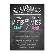 Bow Tie or Bow Gender Reveal - Invitation